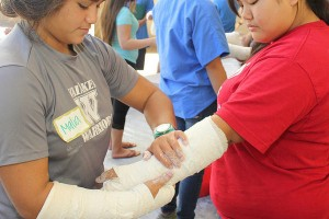 Teen Camp Cast Making AHEC in Hilo