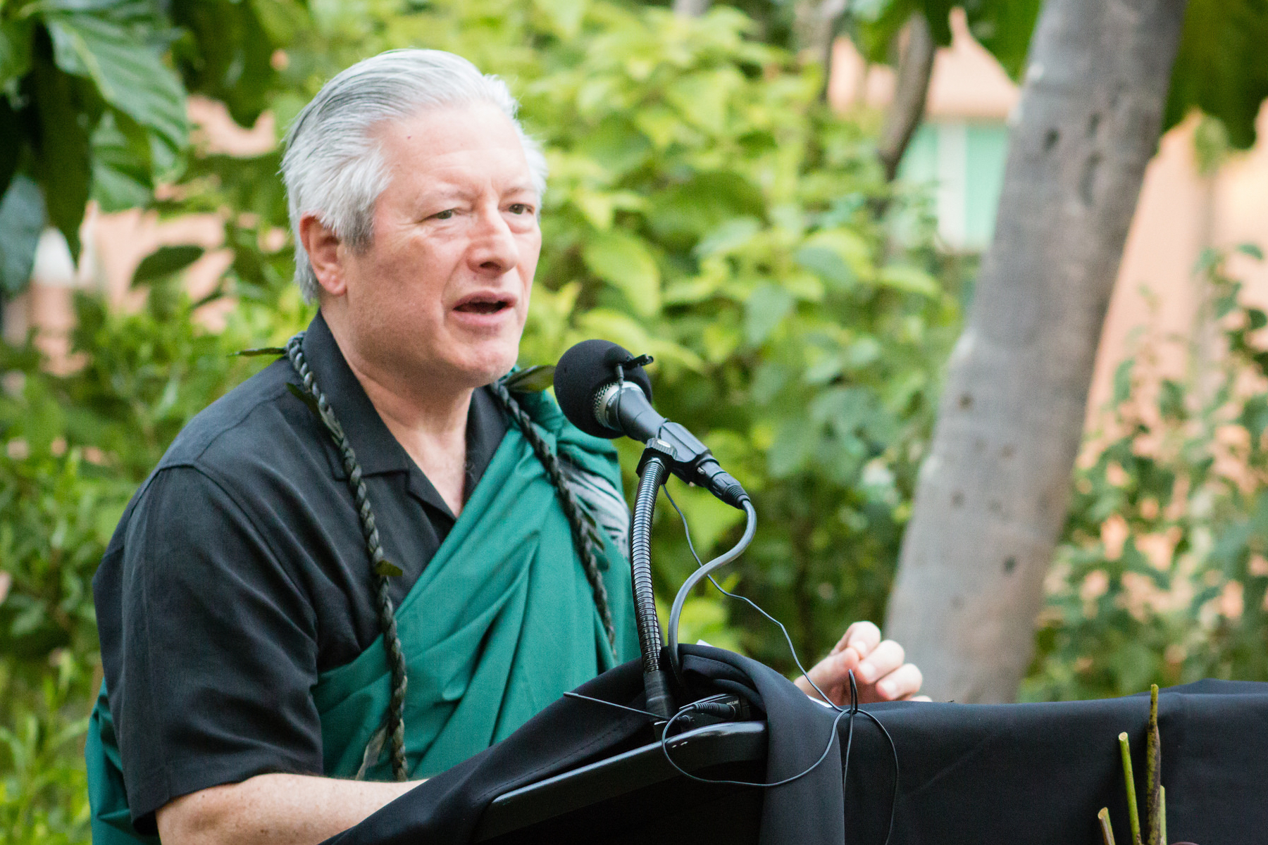 Photo of Dean Jerris Hedges at 2018 Kihei Ceremony.