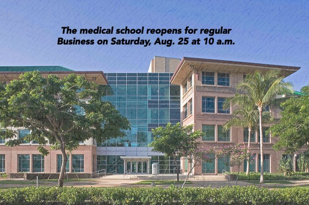 Graphic: Campus Reopens 10am on 8/25