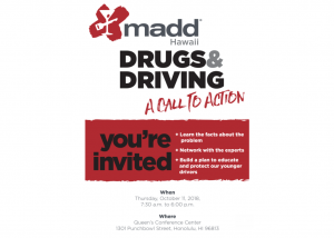 MADD october event flyer