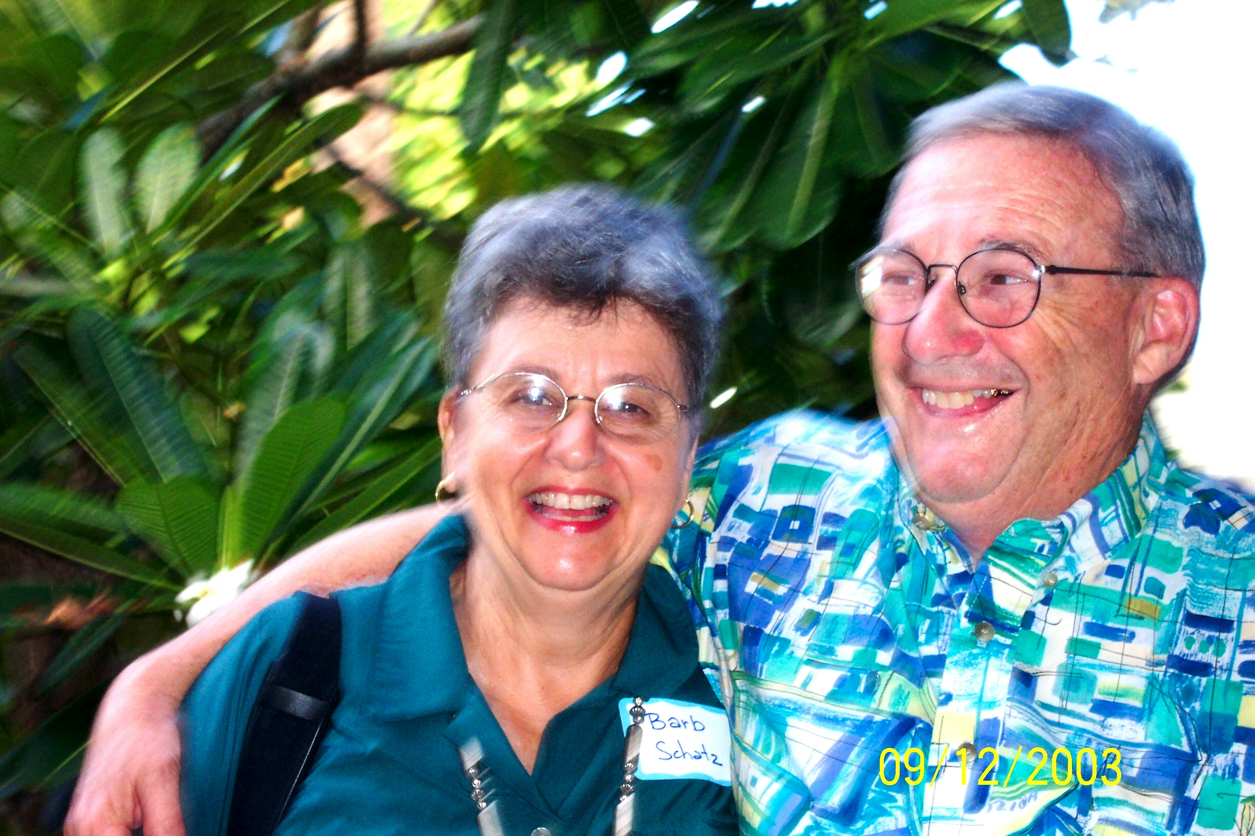 Barb and Irv Schatz, in 2003. Provided by UH Department of Medicine.