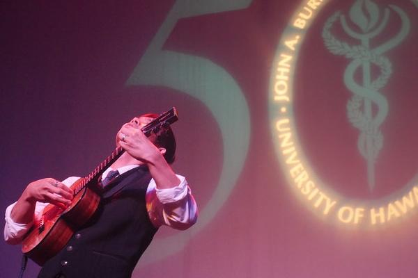 Jake Shimabukuro performing at the 50th gala.