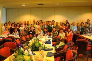 """""""Hoagy's Heroes"""" honor Dr. Hokama at a 2012 banquet."""