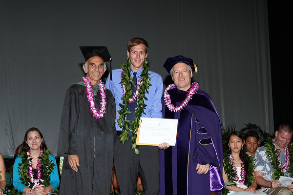 Ryder is pictured with Dean Jerris Hedges, MD and Dr. F. Don Parsa
