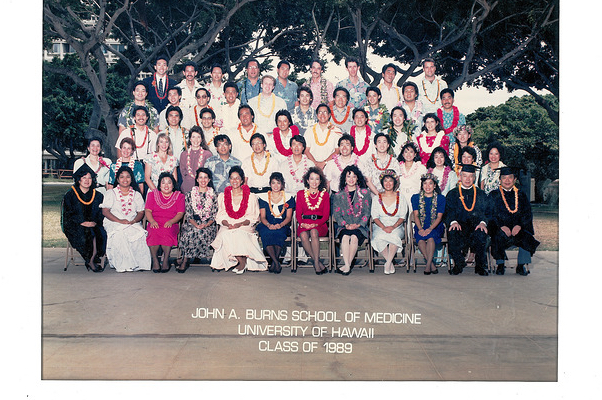 Dr. Char and his classmates in the MD Class of 1989