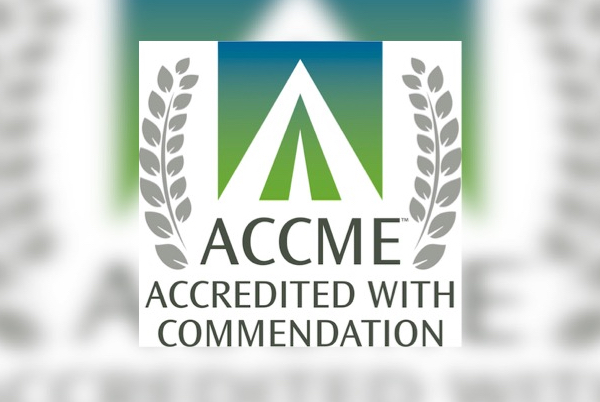 Accredited with commendation official seal