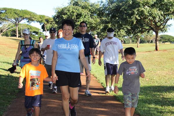 Dr. Wee, Howard Lee and walking group