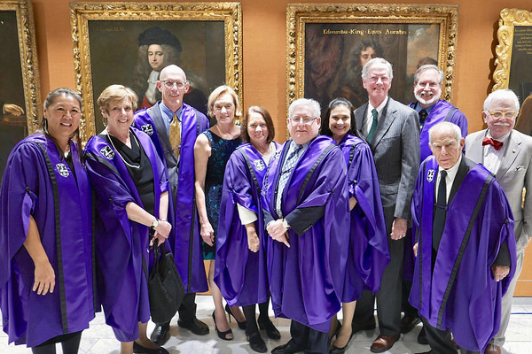 Dr. Mau, far left, in London for her induction into the Royal Academy of Physicians.