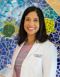 """Dr. Johnson worked closely with JABSOM Assistant Professor and Kapi?olani Pediatrician Dr. Jessica Kosut, whom she called """"a huge inspiration."""""""