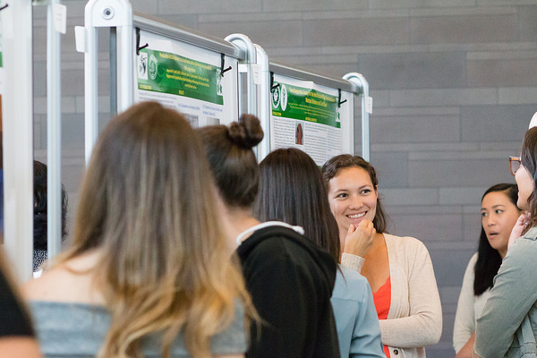 A scene from the 2018 Biomedical Symposium Poster Session