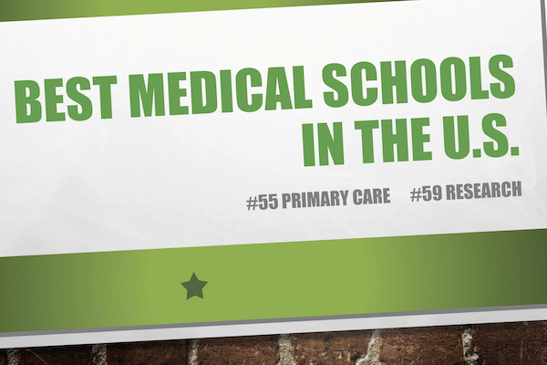 Rankings graphic saying JABSOM is #55 in Primary Care and #59 in Research for 2020