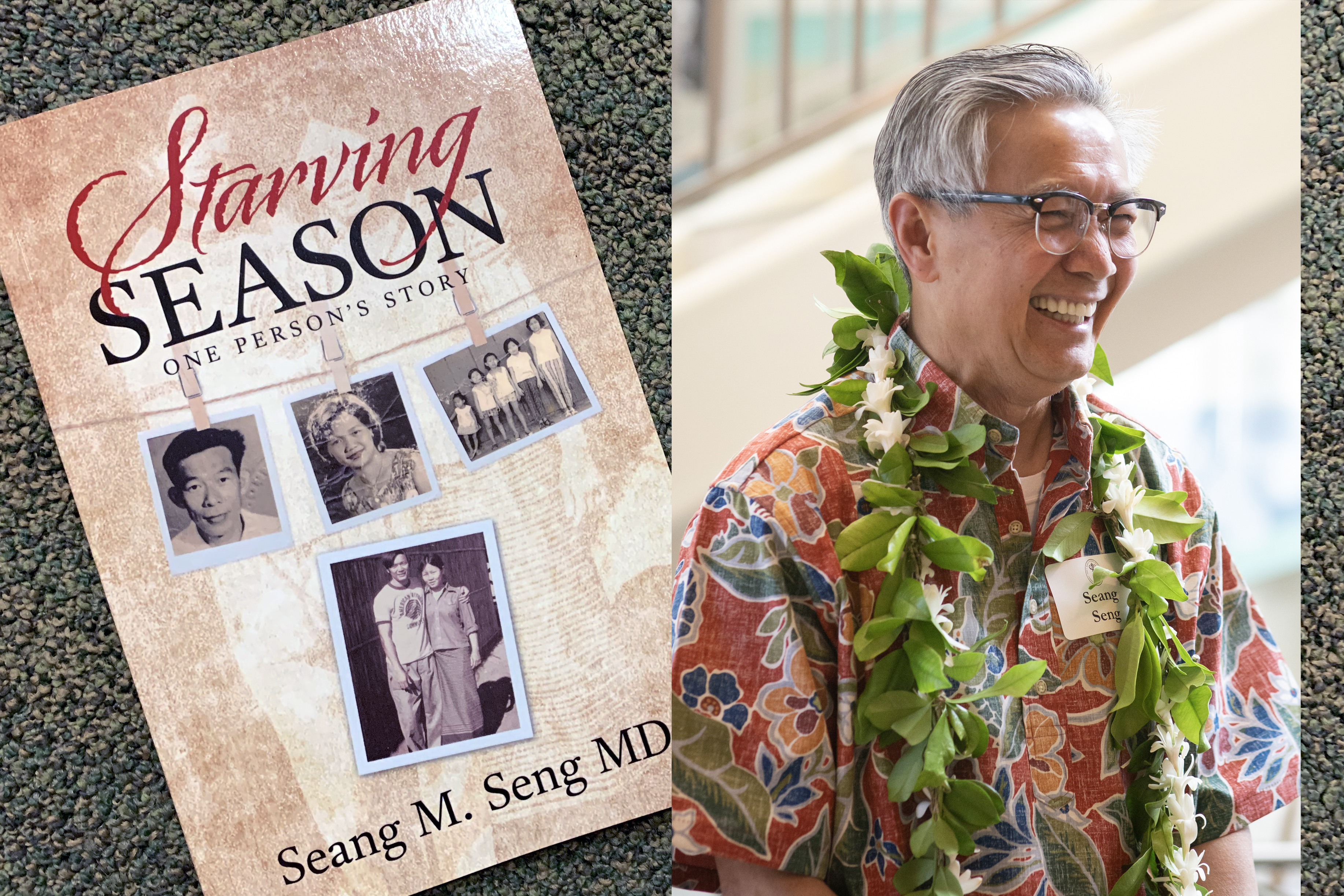 Dr. Seang Seng with his book.