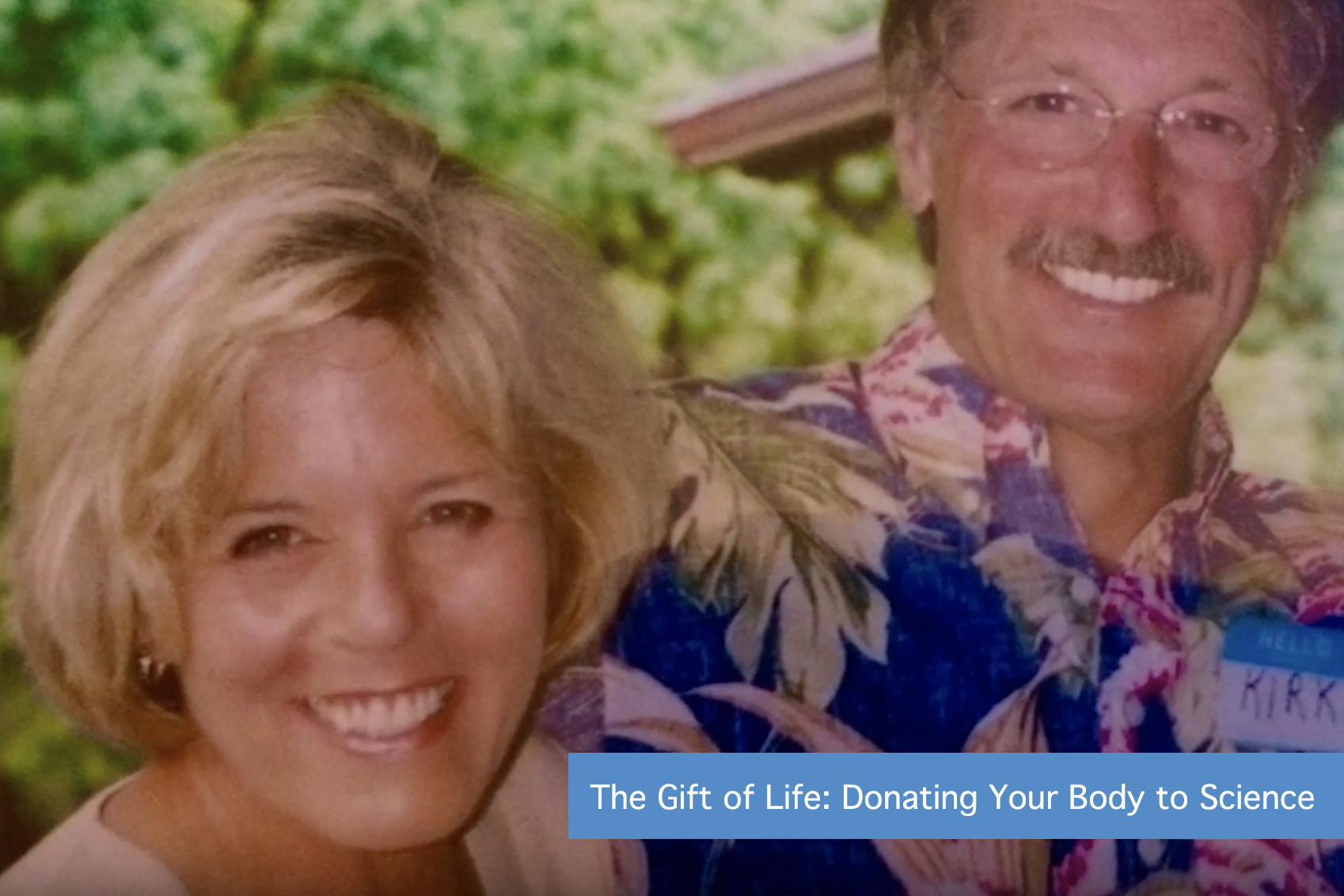 Linda Coble and Kirk Matthews.