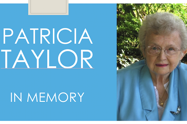 Services May 24 For The Late Patricia Taylor Former Chair Of