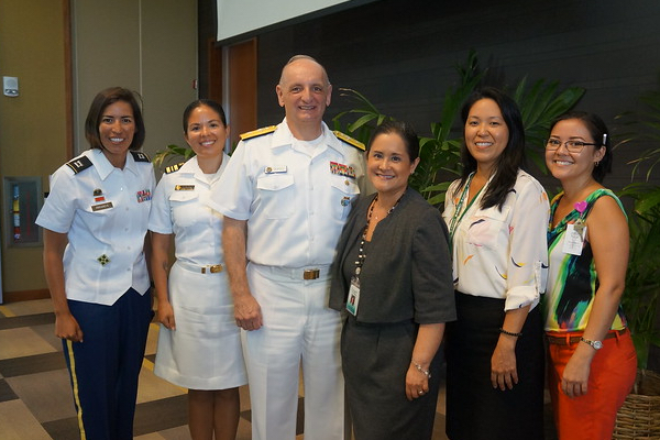 The Rear Admiral, Dr. Buenconsejo-Lum and attendees at the meeting.