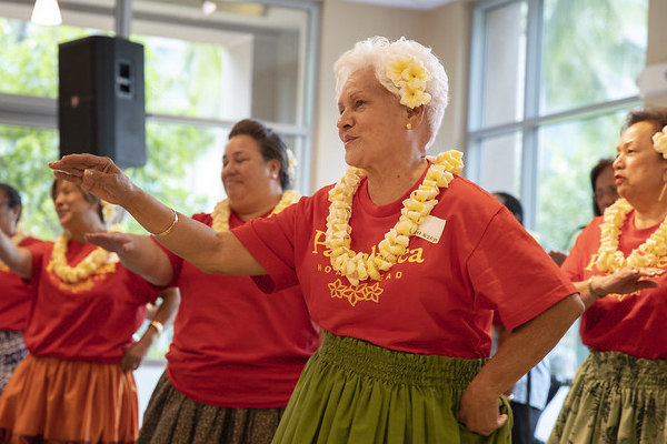 Hula dancers from the community based study