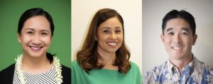 Drs. Pia Lorenzo, Robin Miyamoto and Chad Kawakami