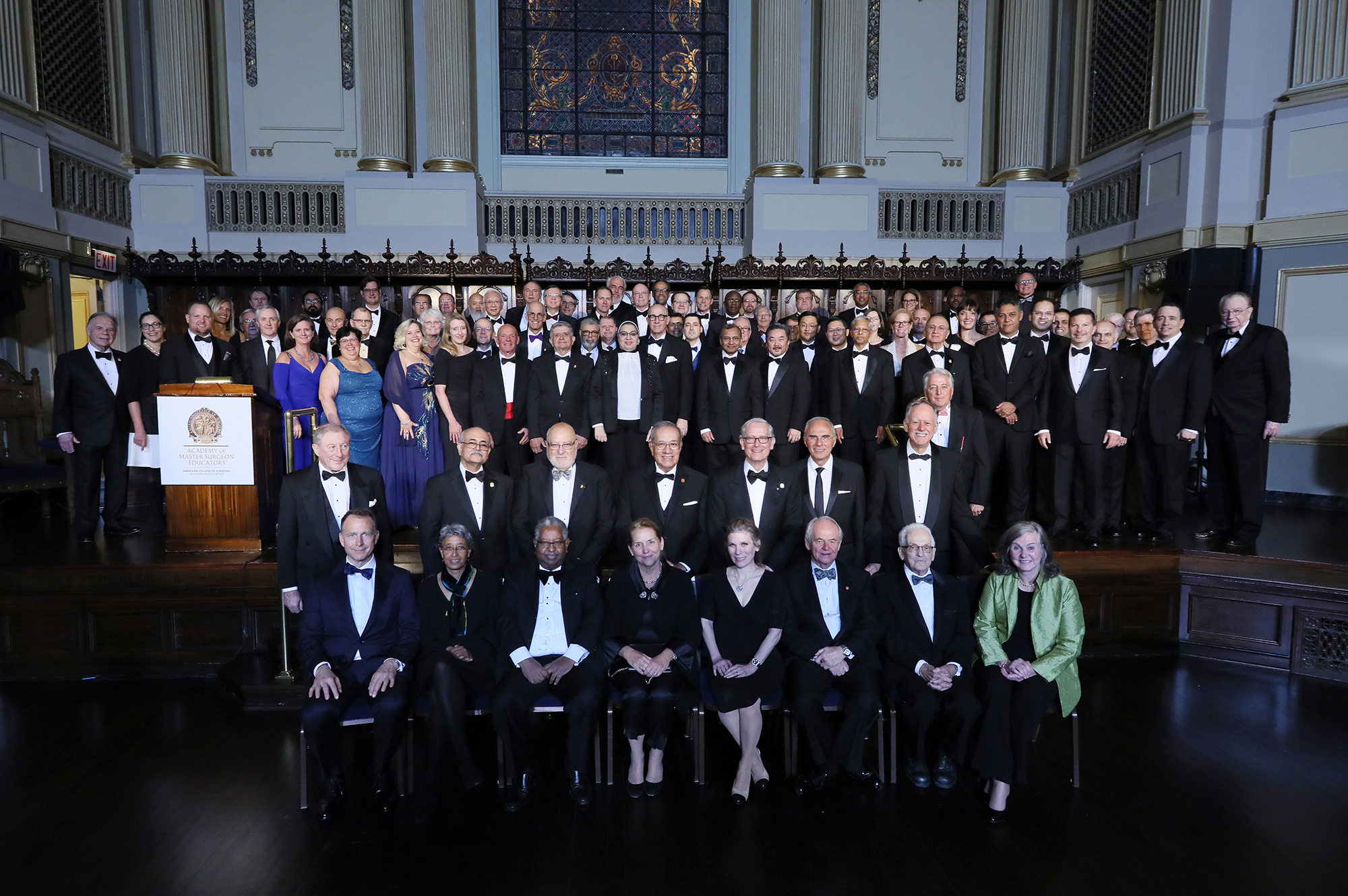 Photo of the 2019 class of Inductees of the ACS Academy of Master Surgeon Educators