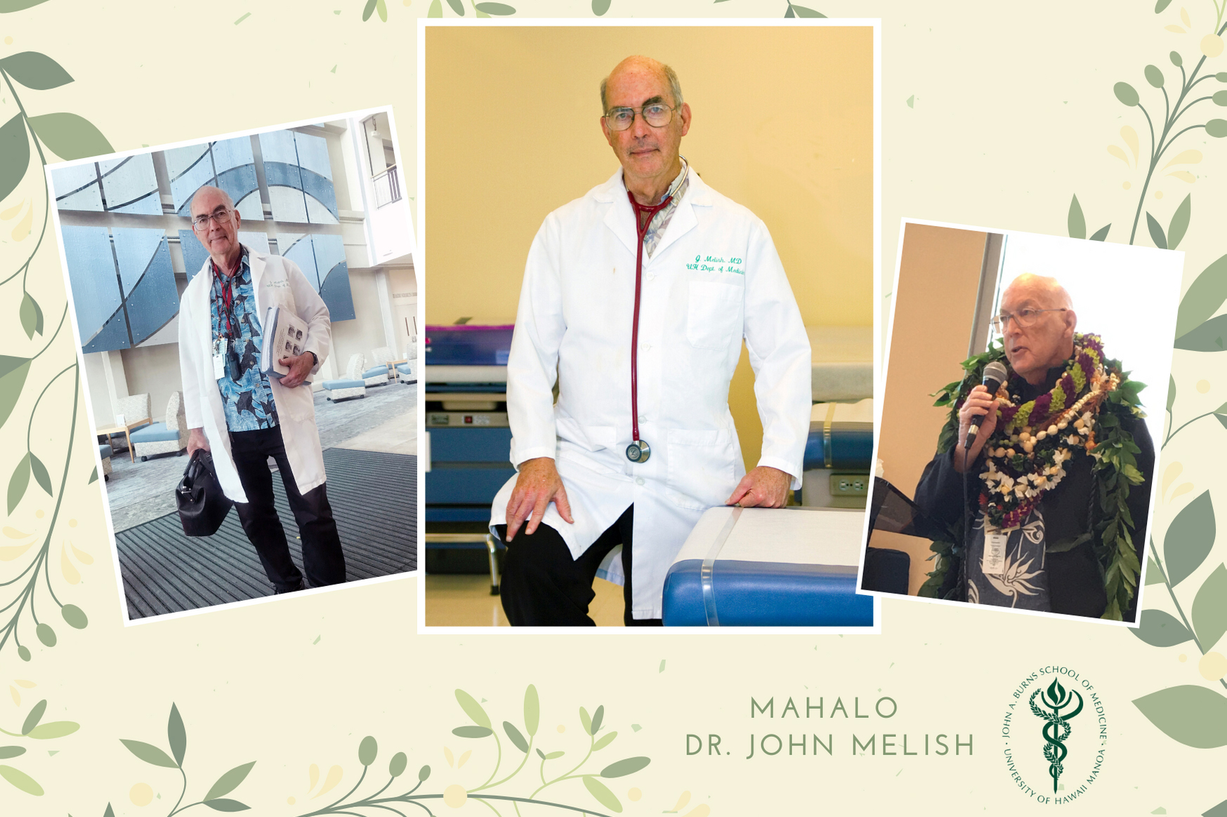 collage of photos of Dr. John Melish
