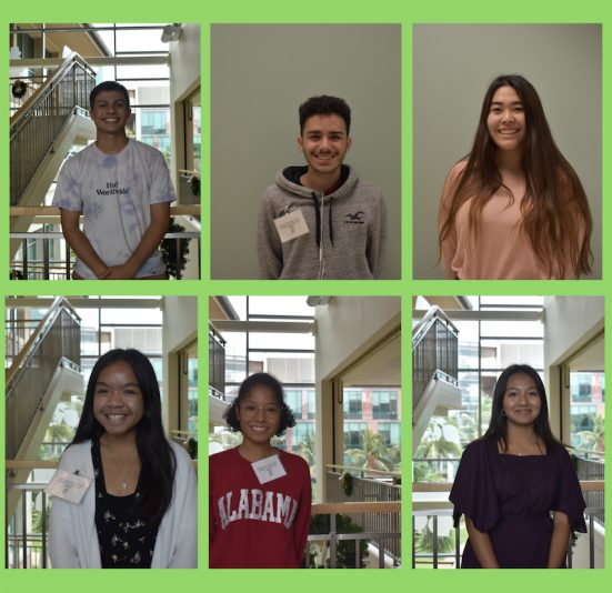 Graphic of six Canoe Academy students' photos